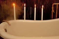 Preparación de un baño Imagen de archivo libre de regalías