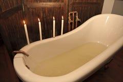 Preparación de un baño Imagen de archivo