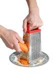 Preparación de zanahorias Imagenes de archivo