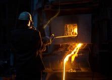 Preparación del acero para echar y hacer bastidores Imágenes de archivo libres de regalías