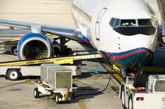 Preparación del aeroplano foto de archivo libre de regalías