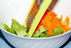 Preparación del alimento de la dieta. Vehículos Imagenes de archivo