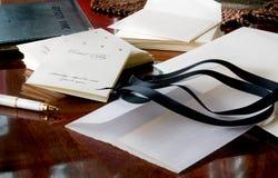 Preparación del banquete de boda fotos de archivo libres de regalías