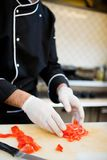 Preparación del cocinero Foto de archivo libre de regalías
