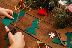 Preparación del día de fiesta La Navidad y Año Nuevo Foto de archivo