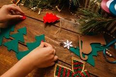 Preparación del día de fiesta La Navidad y Año Nuevo Fotos de archivo libres de regalías