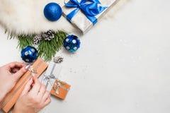 Preparación del día de fiesta La Navidad y Año Nuevo Imagen de archivo libre de regalías