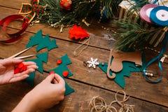 Preparación del día de fiesta La Navidad y Año Nuevo Fotografía de archivo