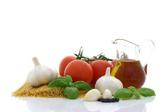 Preparación del espagueti Imagen de archivo libre de regalías