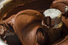 Preparación del helado Foto de archivo libre de regalías