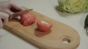 Preparación del lavash armenio con el pollo y las verduras almacen de metraje de vídeo
