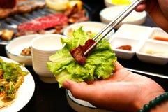 Preparación del plato coreano Fotografía de archivo libre de regalías