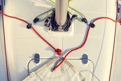 Preparación del staysail para el uso Imagen de archivo libre de regalías