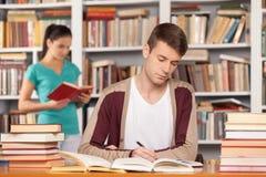 Preparación a los exámenes. Fotos de archivo libres de regalías