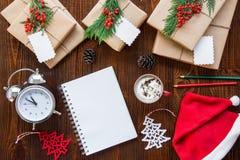 Preparación para el concepto de los días de fiesta del Año Nuevo Imagen de archivo