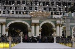 Preparación para el concierto Foto de archivo