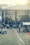 Preparación para el concierto del aire abierto Foto de archivo