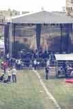 Preparación para el concierto 2 del aire abierto Imagen de archivo