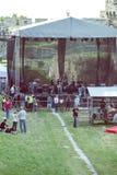 Preparación para el concierto 4 del aire abierto Fotografía de archivo libre de regalías