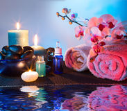 Preparación para el masaje y el aromatherapy Fotografía de archivo libre de regalías