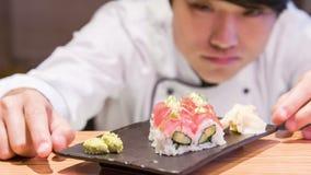 Preparación para hacer el sushi metrajes