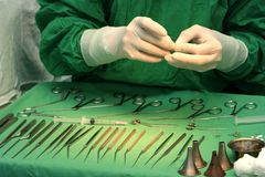Preparación para la cirugía Fotografía de archivo