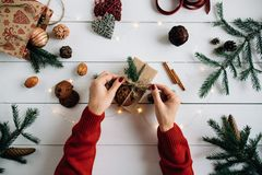 Preparación para la Navidad Fotos de archivo