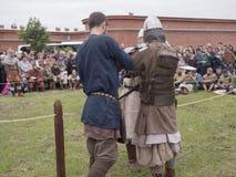 Preparación para los Vikingos Imagen de archivo