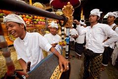Preparación para Nyepi - Año Nuevo del Balinese Imagen de archivo libre de regalías