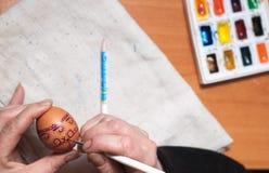 Preparación para Pascua imagen de archivo
