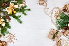 Preparación por días de fiesta de la Navidad Imagen de archivo libre de regalías