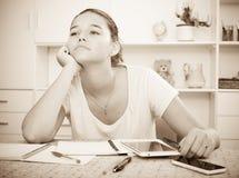 Preparación triste del adolescente Imagen de archivo