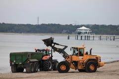 Preparación de la playa Fotografía de archivo