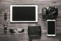 Preparación para el concepto del viaje de negocios Fotos de archivo