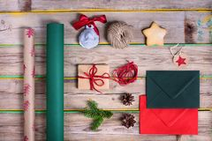 Preparaciones de la celebración del Año Nuevo y de los cristmas Papel de embalaje, Fotos de archivo