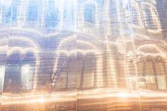 Preparaciones del Año Nuevo en Moscú en la noche Fotos de archivo