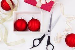 Preparaciones del día de fiesta de la Navidad. Hojas de operación (planning) del Año Nuevo Imágenes de archivo libres de regalías