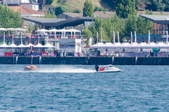 Preparaciones enojadas-Croc del barco de Baba Racing Team Foto de archivo