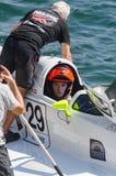 Preparaciones enojadas-Croc del barco de Baba Racing Team Imagen de archivo