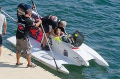 Preparaciones enojadas-Croc del barco de Baba Racing Team Imagen de archivo libre de regalías