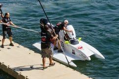 Preparaciones enojadas-Croc del barco de Baba Racing Team Fotografía de archivo
