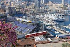 Preparaciones para el Mónaco Grand Prix 2015 Imágenes de archivo libres de regalías