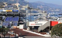 Preparaciones para el Mónaco Grand Prix 2015 Foto de archivo libre de regalías