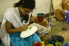 Preparaciones por el Año Nuevo bengalí de Pohela Boishakh en Dacca Fotos de archivo