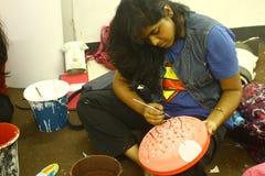 Preparaciones por el Año Nuevo bengalí de Pohela Boishakh en Dacca Foto de archivo