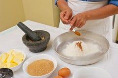 Preparando bolinhos caseiros Foto de Stock