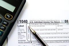 Preparando impostos Imagem de Stock Royalty Free