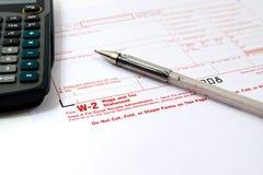 Preparando impostos Imagem de Stock