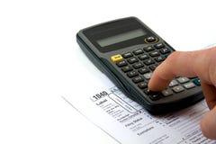 Preparando impostos Fotos de Stock