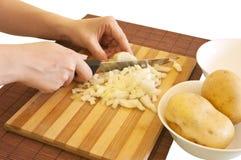 Preparando ingredientes da refeição Fotografia de Stock Royalty Free
